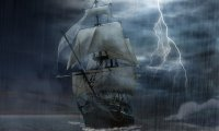 sailing on deep water storm