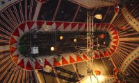 Atmosphere in a circus tent with accordion