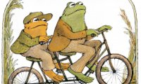 A frog and a toad, madly in love.