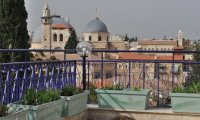 Roof terrace in Jerusalem