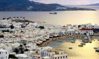 Along the shores of Mykonos Island