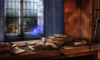 Studying in Ravenclaw Tower - Midwinter