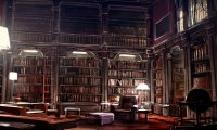 Studying in an Idle Hogwarts Library