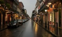 New Orleans Cafe on a Rainy Night