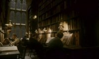 In the Library at Hogwarts on a Rainy Day