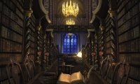 Study within the Hogwarts Library.