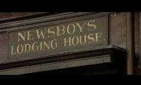 Newsboy lodging house at night
