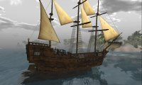 Sailing ship on a stormy day with other sounds added