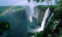 A seat by Victoria Falls
