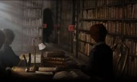 Sudying at the Hogwarts Library