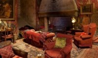Gryffindor Common Room with Distant Dragon
