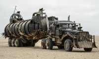 The War Rig travels through the desert