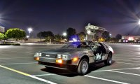 Going for a ride in the delorean