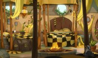 Sleeping in the Hufflepuff girls' dorm