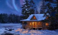 Sleepy Winter Cabin