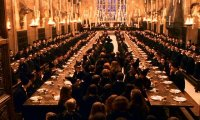 A relaxing atmosphere much like I imagine would be in the Great Hall at Hogwarts.