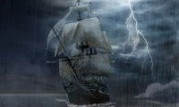 Sailin through thunderstorm