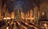 Studying in the Great Hall a few days before Christmas