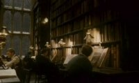Rainy Night at the Hogwarts Library