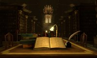 In the Hogwarts Library