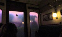 A relaxing night of thunder storm inside the Hogwarts Express.