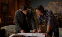 Reading beside the Winchester brothers